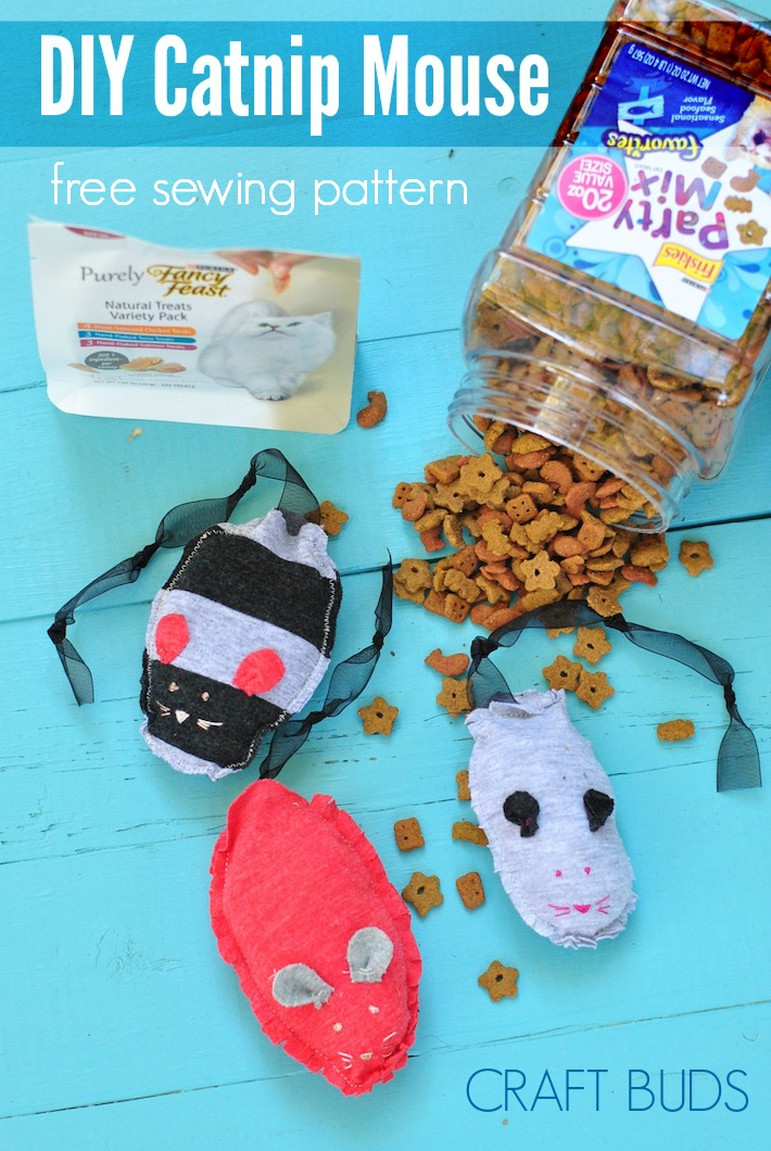 DIY Catnip Mouse, Free Sewing Pattern | Craft Buds