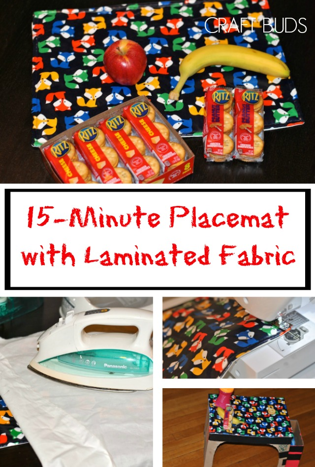15-Minute Placemat with Laminated Fabric Sewing Tutorial