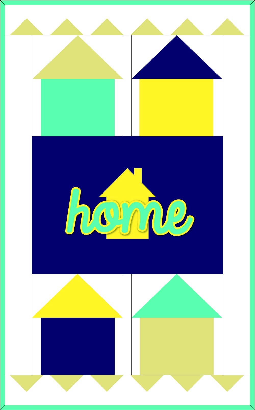 Home Mini Quilt assembly diagram