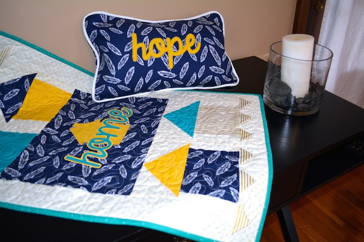Home and Hope Applique Sewing