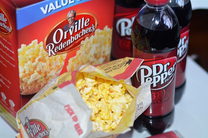 Dr Pepper and Orville Redenbachers