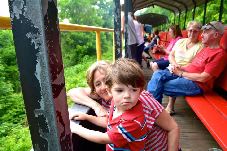 Train ride in Nelsonville, Ohio