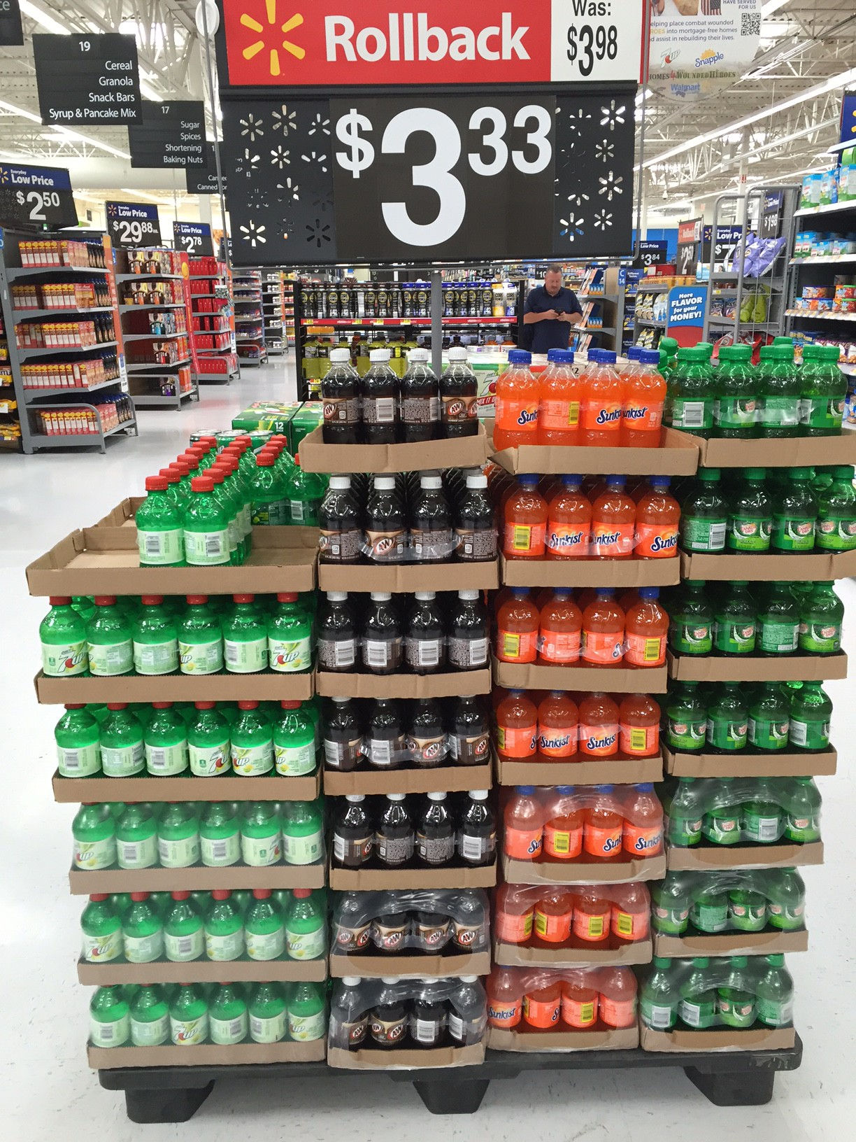 Soda display